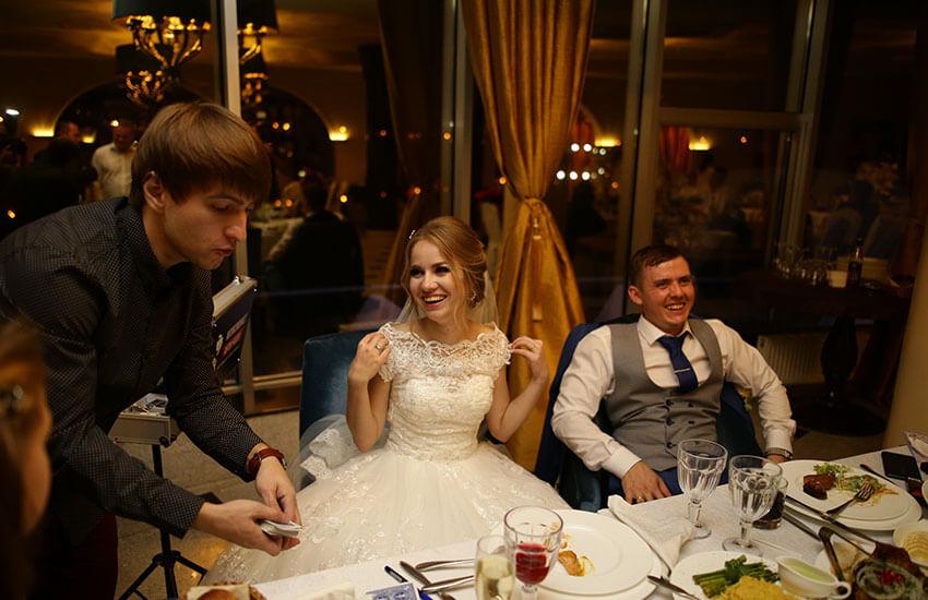 показ микромагии невесте